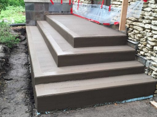 Coloured Concrete Stairs
