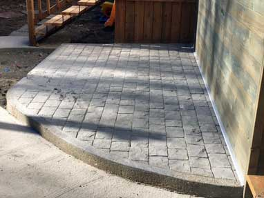 Stamped Small Patio